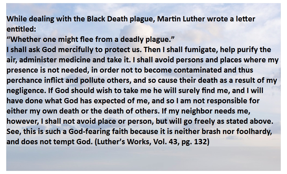 Luther flee plague quote on sky w border